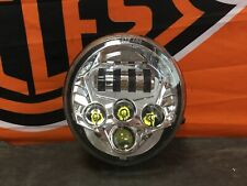 Harley Davidson V-ROD Scheinwerfer Headlight chrome LED Plug & Play Daylight
