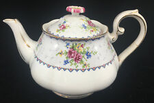 Royal Albert Teapot Tea Pot Petit Point Square England Floral Hampton 84994 ASIS