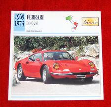1969-73 Ferrari Dino 246 GTB  - Edito-Service, SA collector card