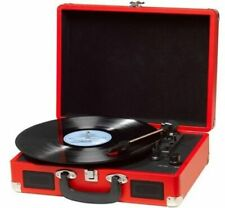 Plattenspieler MP3 USB Digitalisierungsfunktion Lautsprecher Denver VPL-120 RED