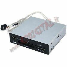 CARD READER LETTORE INTERNO SCHEDE 3.5 ALL USB SD XD TF MS MICRO IN VANO FLOPPY