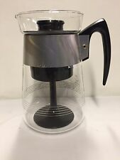 Vintage Corning Glass 6 Cup Stovetop Percolator Coffee Pot--Heat Proof Glass USA