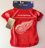 """Detroit Red Wings NHL Large 16-17"""" Length Dog Pet Jersey NEW"""