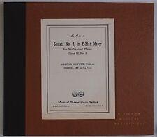 BEETHOVEN: Sonata No. 3 HEIFETZ Bay RCA VICTOR Orig DM-852 78 Set NEAR MINT