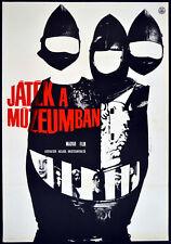GAME IN THE MUSEUM 1965 Robert Ban, Rita Bekes HUNGARIAN POSTER