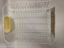RUBBERMAID MICROBAN LARGE BISQUE SINK DISH DRAINER STORAGE RACK & UTENSIL CUP