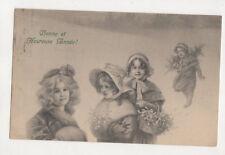 Bonne Heureuse Annee New Year Greetings Switzerland 1907 Postcard US064