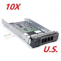 """LOT of 10 For Dell F238F 3.5"""" Hard Drive Tray Caddy for R720 R710 R510 R420 R410"""