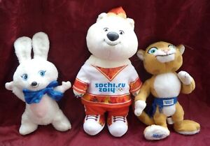 Official Sochi 2014 Olympic Games,mascots tiger, rabbit ,bear Toys.