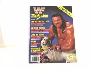 WWF Magazine 1991 August The British BullDog Davey Boy Smith Jr UK Wrestling WWE