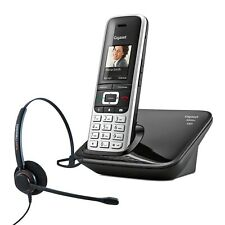 Cordless Phone Gigaset S850A Single w Answer Machine and Corded Headset DECT Pho