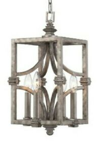 """Raymond Waites Structure 9"""" Cage Pendant By Savoy House Aged Steel Finish"""