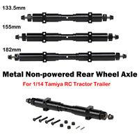 1* DIY Metall Nicht angetriebene Hinterradachse Für 1/14 Tamiya RC Sattelzugteil
