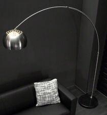 Stehlampe Stehleuchte XXL Bogenlampe Edelstahl mit Marmorfuß