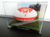 ✺Signed✺ LANCE FRANKLIN Sydney Swans Football PROOF COA 2021 Jumper AFL