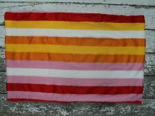 IKEA Barnslig Rand Pillowcase Sham Striped Pink Orange Yellow Red Cotton EUC