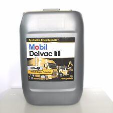 MOBIL DELVAC 1 5W40 DA 20 LITRI OLIO MOTORE DIESEL CAMION FURGONE TRATTORE
