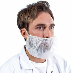 Disposable Beard Cover Hair Net Latex Free Cooking Protection Kitchen 1000/Case