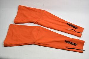 XS Men's Verge Fleece Cycling Leg Warmers Orange CLOSEOUT