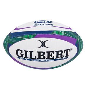 Gilbert Scotland Replica Supporter Tartan Rugby Union Ball White - Midi