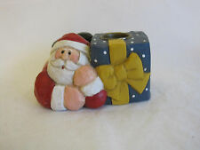 Eddie Walker Midwest of Cannon Falls Santa Present Taper Candle Holder