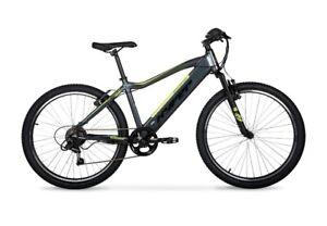 Hyper E-ride Electric Mountain Bike, 26 Inch Wheels, 36 Volt Battery 20+ Range