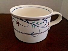 Mikasa Intaglio CAC20 Annette Coffee Tea Cup - One Red Flowers Blue Scrolls Mint