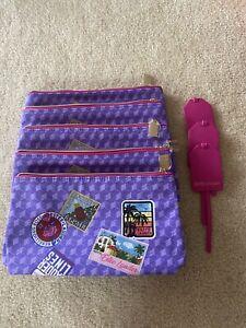 Lots of 5 Estee Lauder Cosmetic Bags Purple New