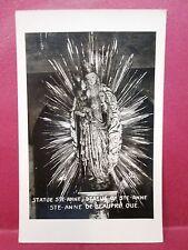 Postcard Canada Quebec Statue of Ste-Anne De Beaupre RPPC