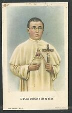 image pieuse ancianne del Padre Damian santino holy card estampa