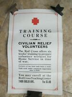Excellent WWI PATRIOTIC RED CROSS TRAINING POSTER, Medical, Medicine, GIFT