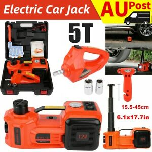 5Ton 12V 3-in-1 Auto Electric Car Hydraulic Floor Jack Lift + Impact Wrench Tool