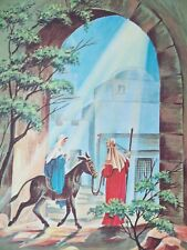 Vintage Mid Century 50'S Christmas Greeting Card Nativity