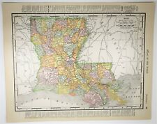 1909 Antique New Orleans / Louisianna Map - Vintage LA Map - History Art Print