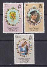 1981 Royal Wedding Charles & Diana MNH Stamp Set Pitcairn SG 219-221