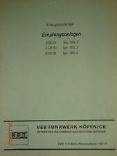 EGD01  deutsche Erzeugnisunterlage, RFT / Funkwerk Köpenick