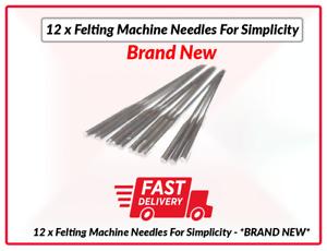 12 x Felting Machine Needles For Simplicity - *BRAND NEW*