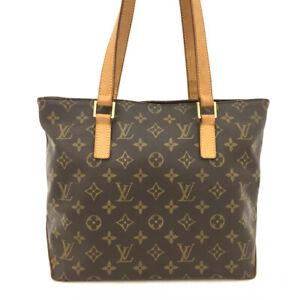 100% Authentic Louis Vuitton Monogram Cabas Piano Shoulder Tote Bag /61636