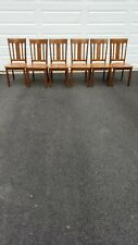 wood dining room set 6 chairs