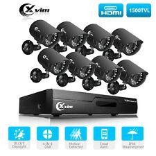 XVIM 8CH 1080N Home Surveillance DVR 1920TVL Outdoor CCTV Security Camera System