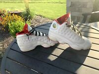 Nike Air Jordan 13 Retro GS Size 7Y History of Flight White Red 414574-103