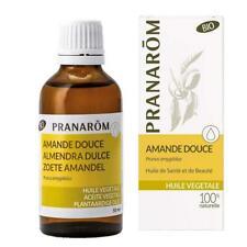 PRANAROM Amande douce Huile végétale BIO 100% naturelle 50 ml NEUF