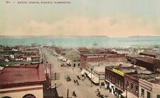 View on Hewitt Avenue in Everett WA Postcard