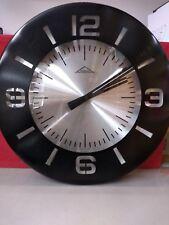 Orologio da parete cassa nera quadrante colore argento Ml
