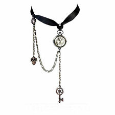 Alchemy Gothic Uncle Albert Steampunk Clock Key Choker Pendant Necklace P729