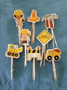 Cupcake Cake Toppers Construction Crew 24pcs