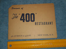 The 400 Restaurant 5th Avenue at 3rd St NEW YORK Souvenir B&W Photograph 1940s