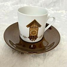 Mitterteich Porzellan Bavaria Klok Ruembol 4 Cup Saucer Vintage Rare Germany