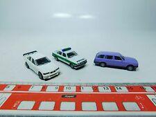 S852-0,5# 3x Herpa H0 BMW-Modelle: 3 er mit Heckflügel, Polizei 325, touring