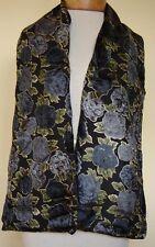 New_Pretty_Lined Velvet Scarf_Black/Gray/Green_Floral Print